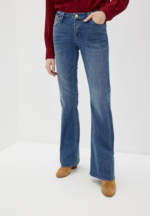 женские джинсы клеш true religion, синие
