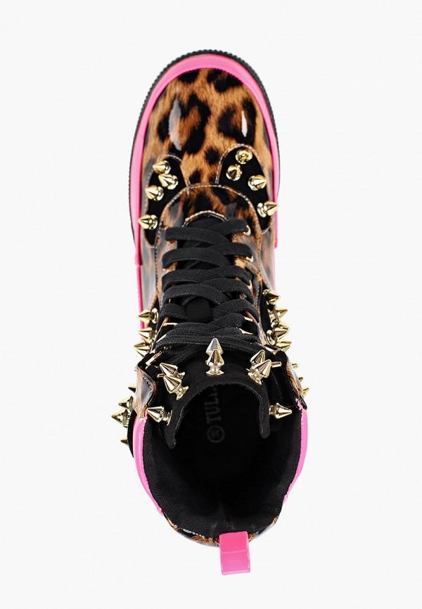 Фото 4 - женские ботинки и полуботинки Tulipano коричневого цвета