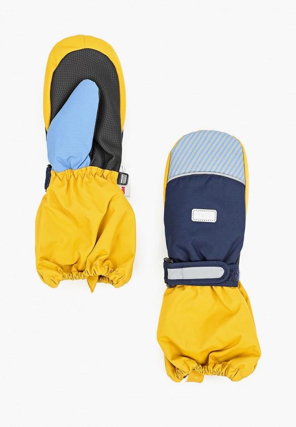 варежки tutu для мальчика, желтые