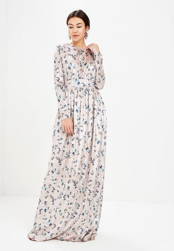 Купить Платье Tutto Bene, TU009EWALYZ6, бежевый, Весна-лето 2018
