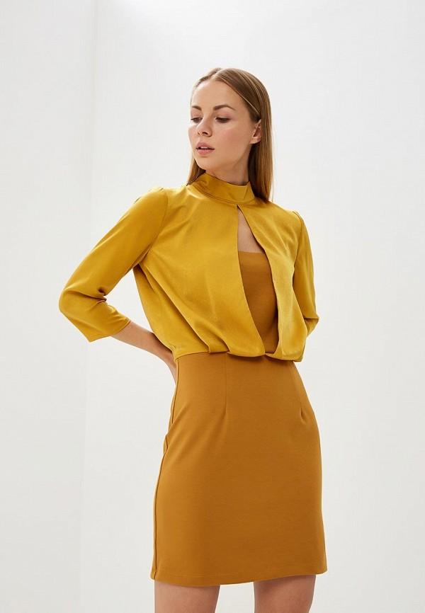 женское вечерние платье tutto bene, желтое