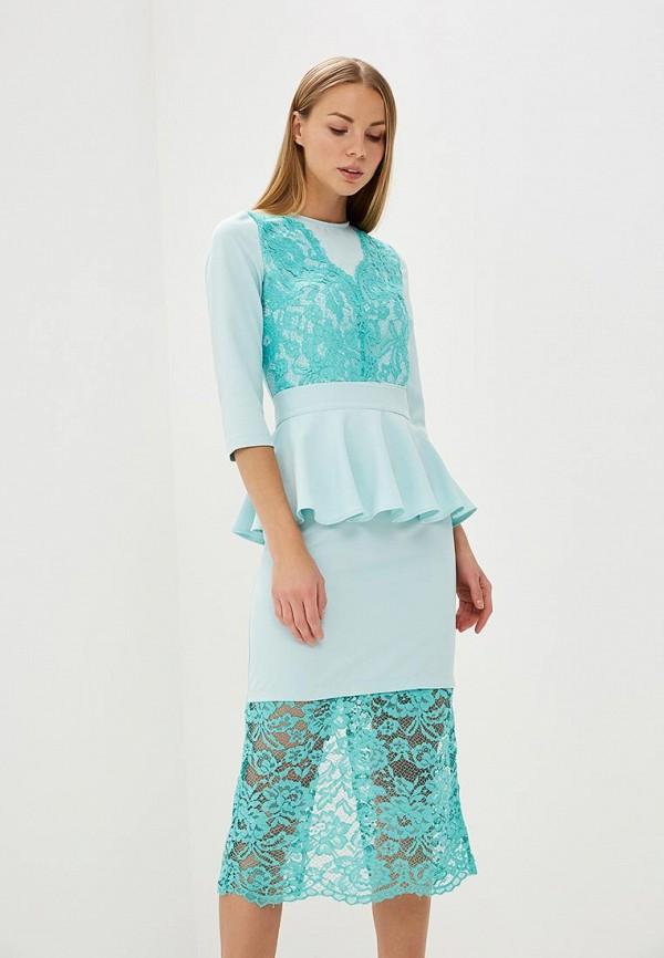 женское вечерние платье tutto bene, голубое