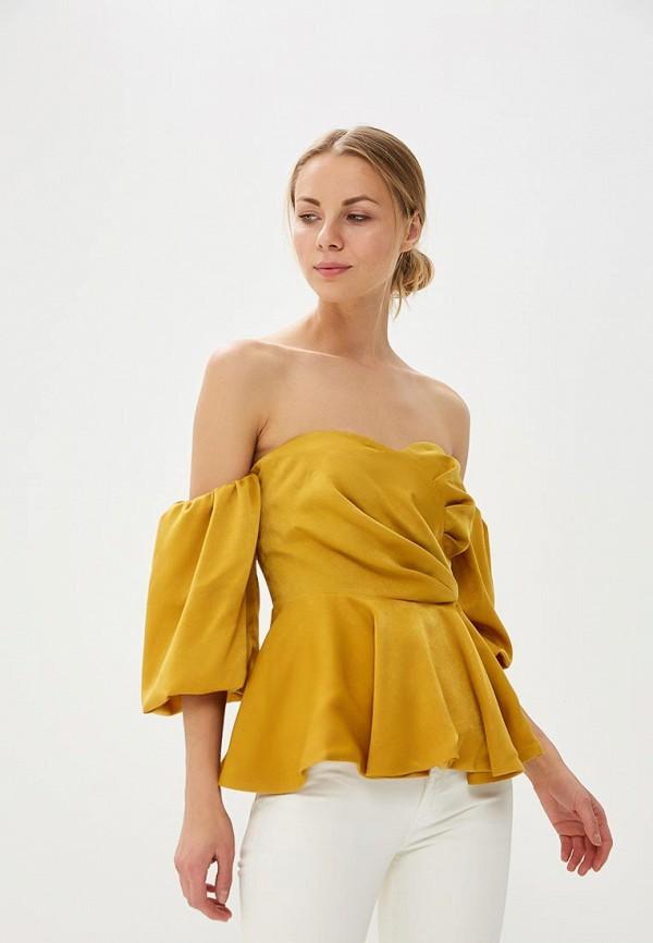 женская блузка tutto bene, желтая