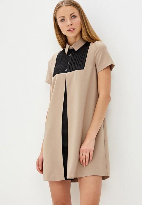 Купить Платье Tutto Bene, TU009EWBCRB0, бежевый, Весна-лето 2018