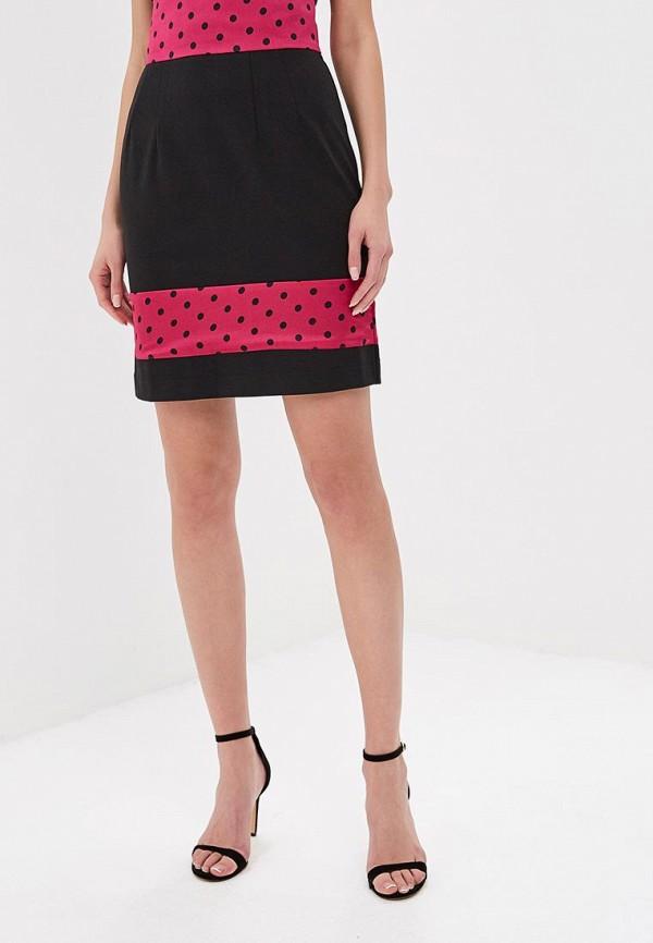 женская прямые юбка tutto bene, черная
