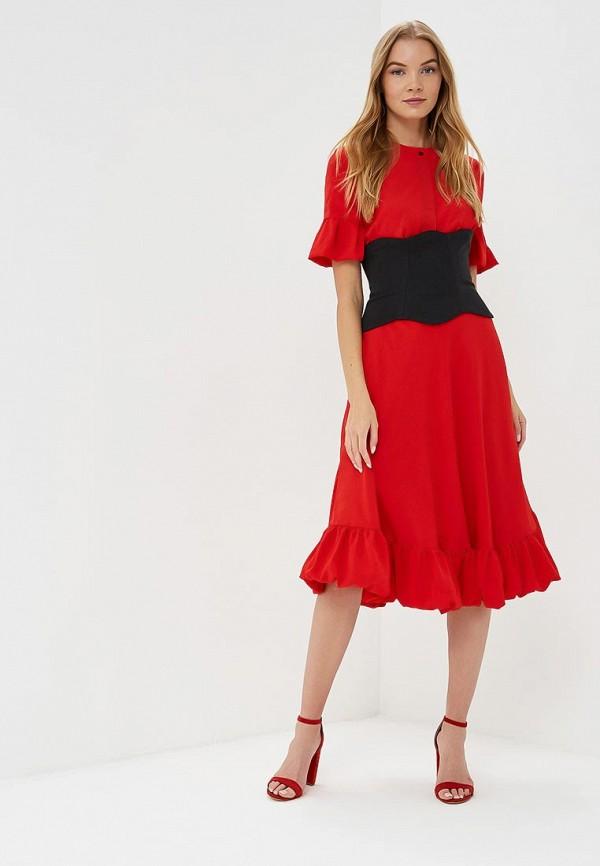 женское вечерние платье tutto bene, красное