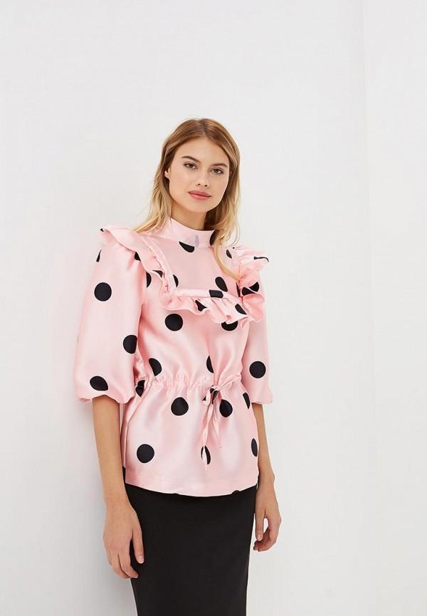 Фото 2 - женскую блузку Tutto Bene розового цвета