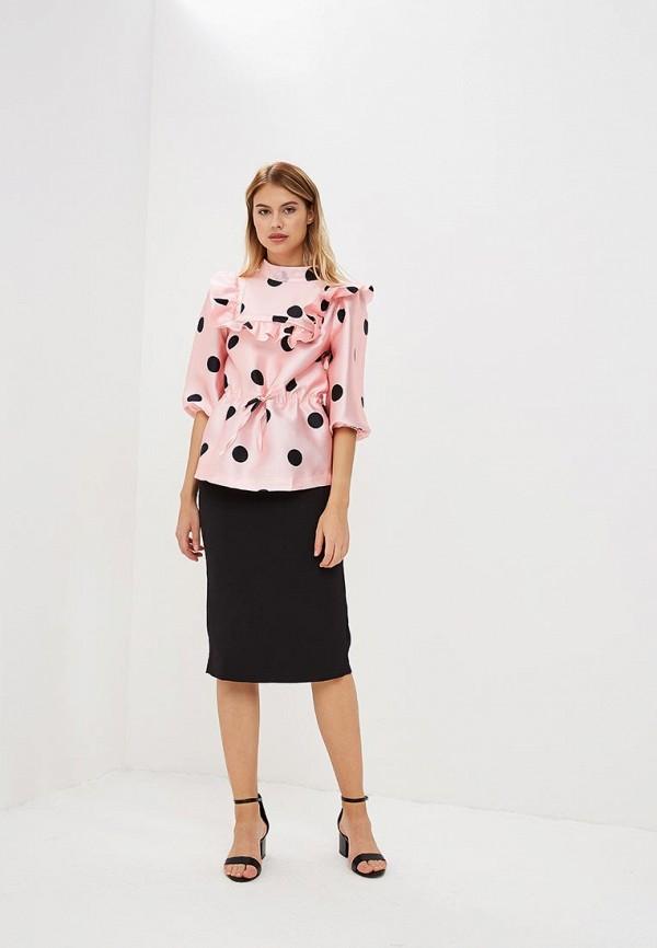 Фото 3 - женскую блузку Tutto Bene розового цвета