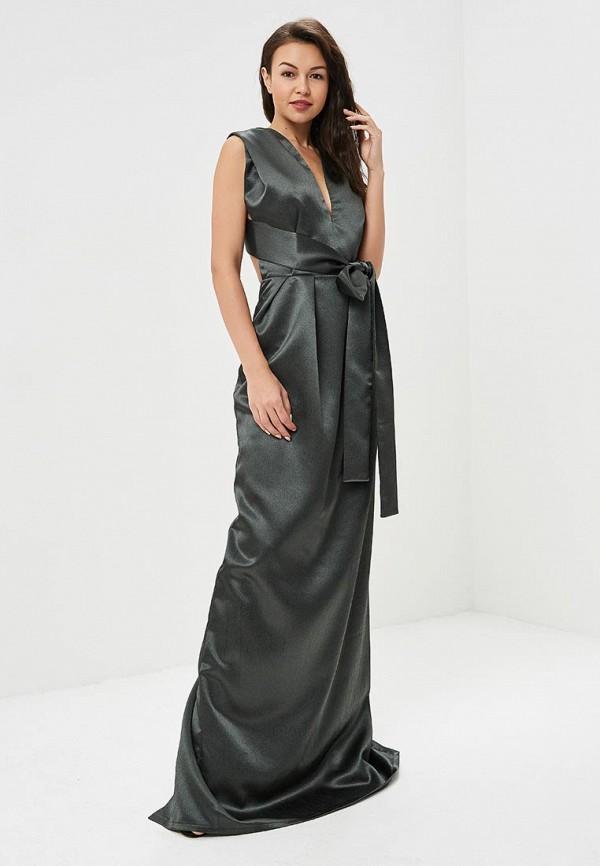 женское вечерние платье tutto bene, хаки