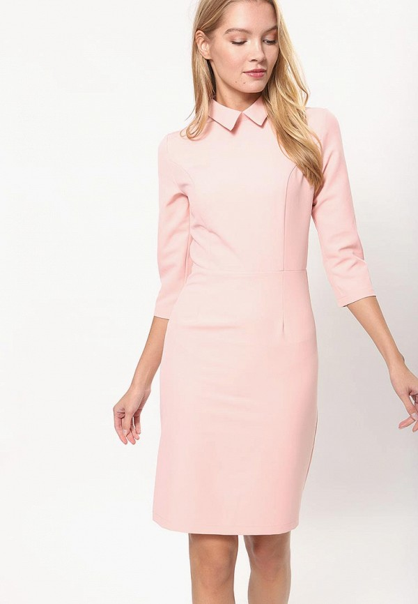 женское платье-футляр tutto bene, розовое