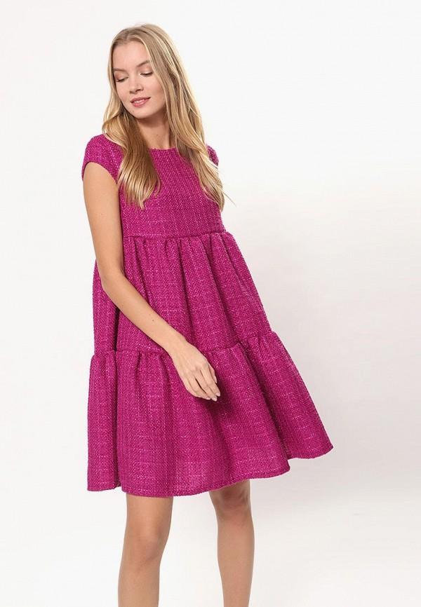 женское повседневные платье tutto bene, розовое
