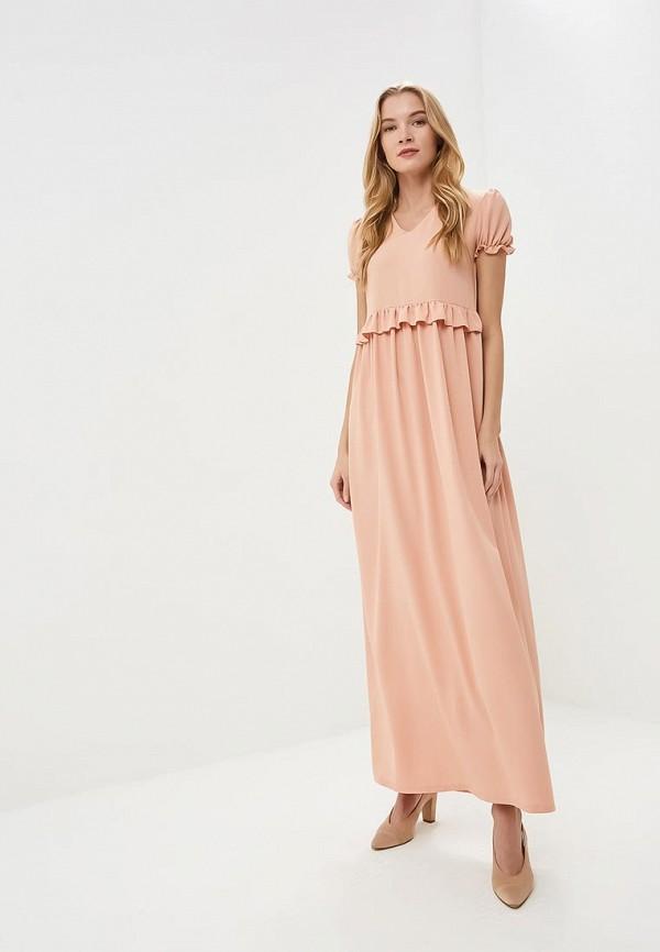 женское вечерние платье tutto bene, оранжевое