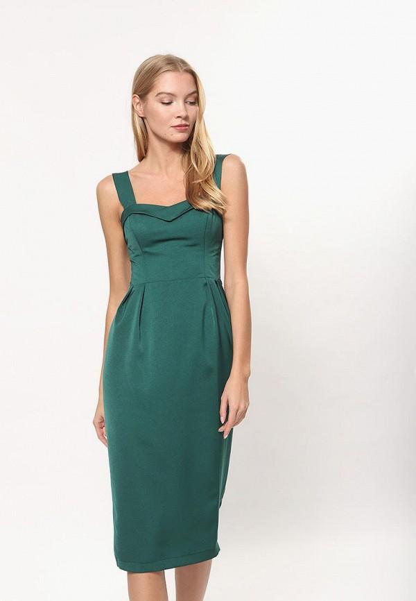 женское платье-футляр tutto bene, зеленое
