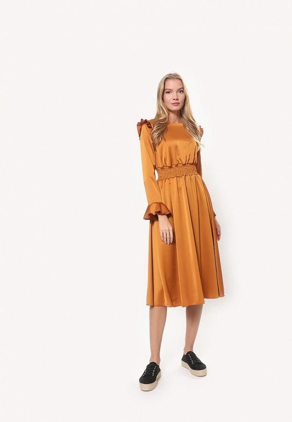 женское повседневные платье tutto bene, оранжевое