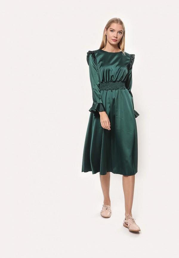 женское повседневные платье tutto bene, зеленое