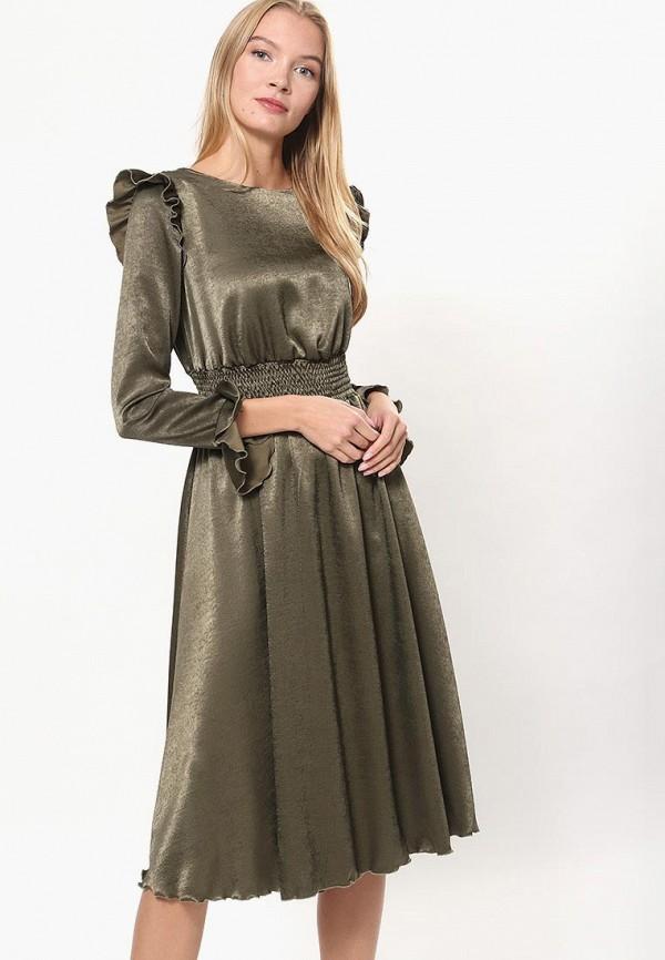 женское повседневные платье tutto bene, хаки