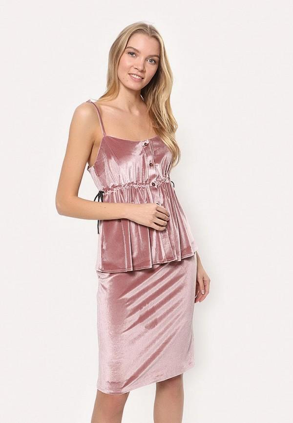 женский костюм tutto bene, розовый