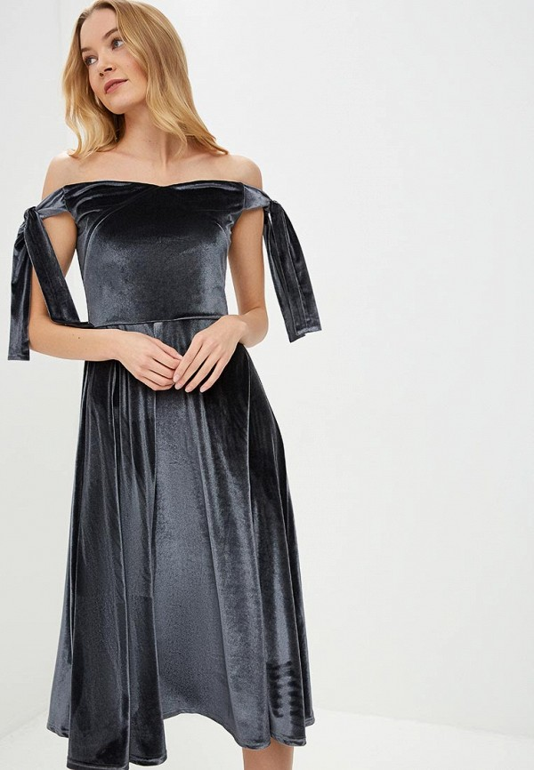 женское вечерние платье tutto bene, серое