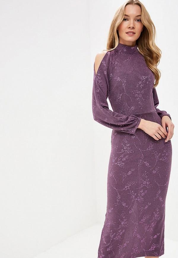 Платье Tutto Bene Tutto Bene TU009EWDNKP7 lace up long sleeve two tone dress