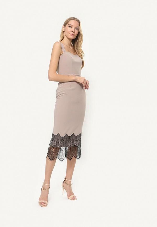 женское вечерние платье tutto bene, бежевое