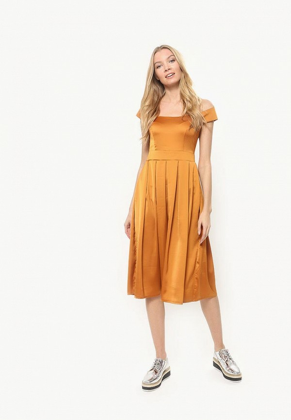 женское платье tutto bene, желтое