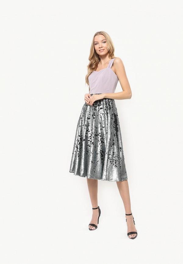 женское вечерние платье tutto bene, серебряное