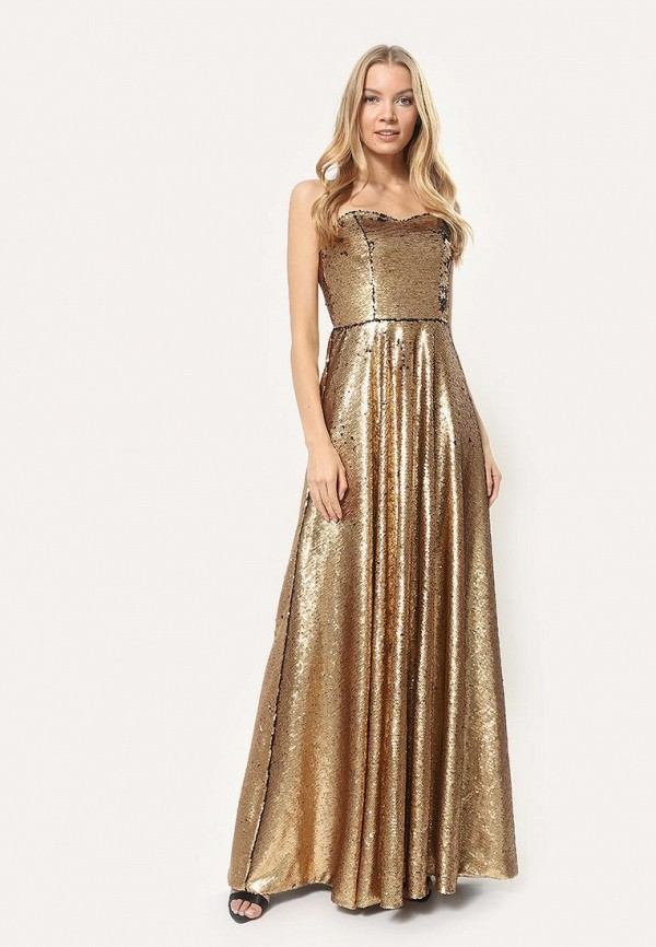 женское вечерние платье tutto bene, золотое