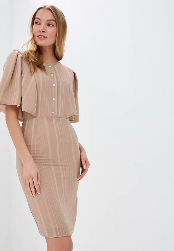 женское повседневные платье tutto bene, бежевое
