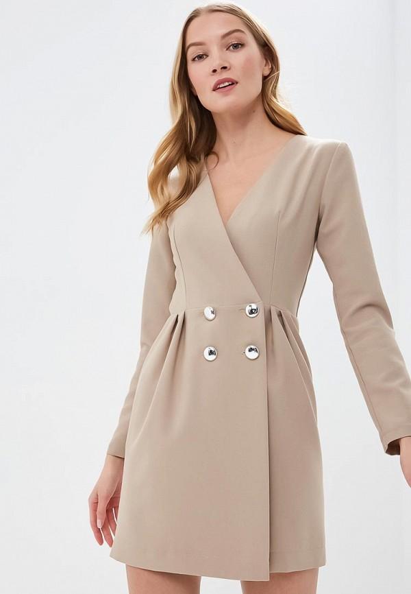 женское платье tutto bene, бежевое