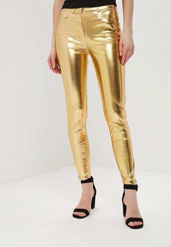 женские брюки tutto bene, золотые
