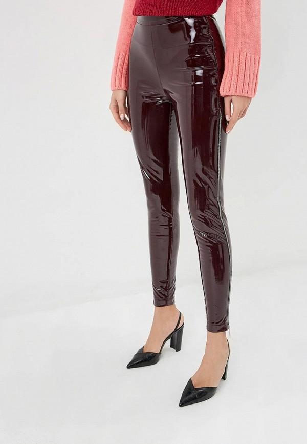 женские повседневные брюки tutto bene, бордовые