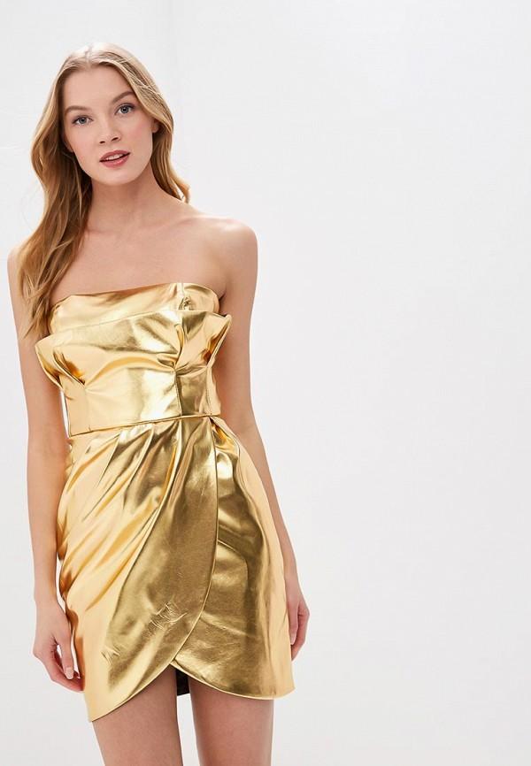 женское платье tutto bene, золотое