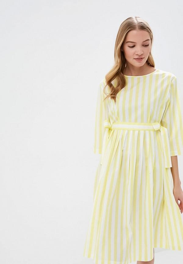 Купить Платье Tutto Bene, tu009ewehos4, желтый, Весна-лето 2019