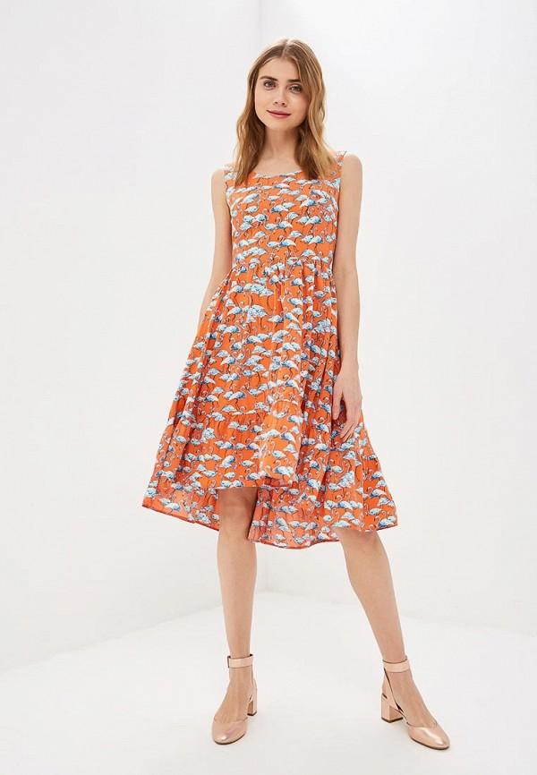 Фото 2 - женское платье Tutto Bene кораллового цвета
