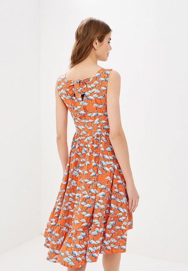 Фото 3 - женское платье Tutto Bene кораллового цвета