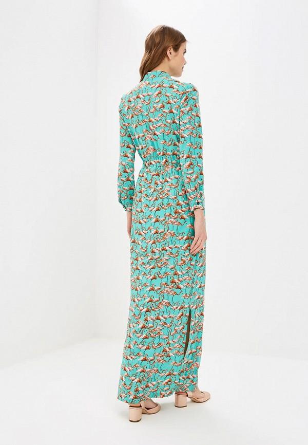 Фото 3 - женское платье Tutto Bene бирюзового цвета