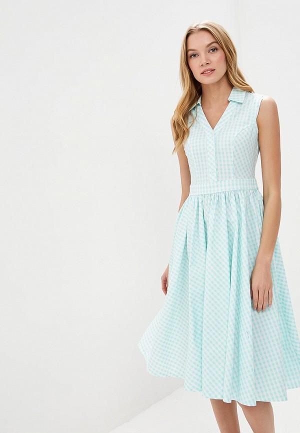 Фото - женское платье Tutto Bene бирюзового цвета