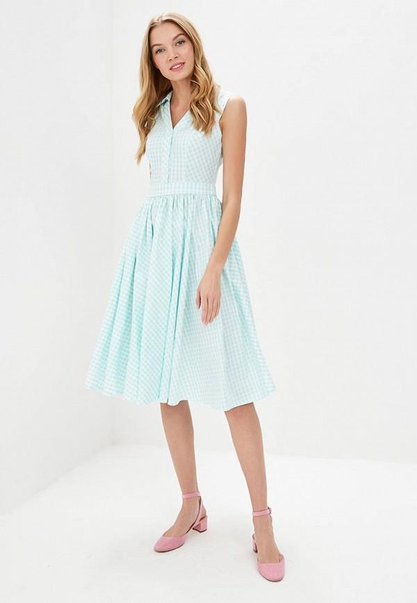 Фото 2 - женское платье Tutto Bene бирюзового цвета
