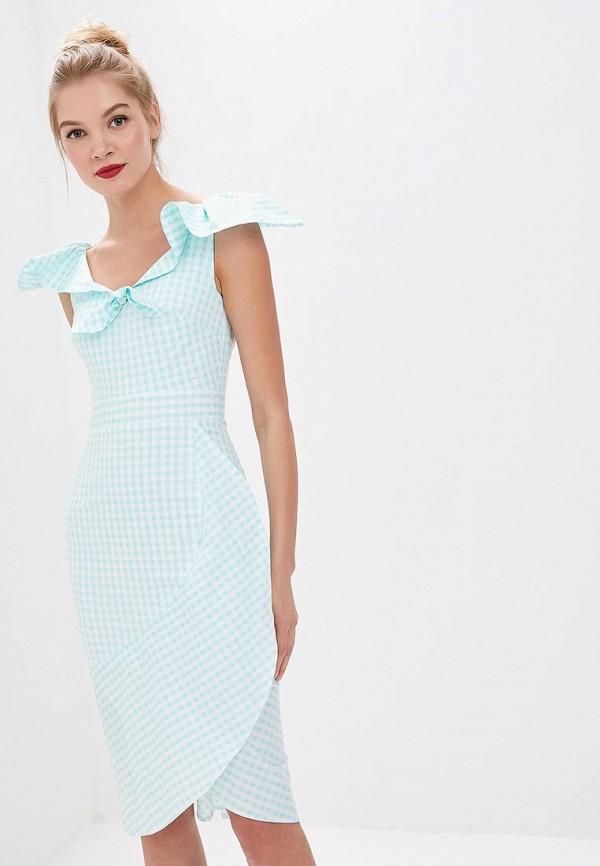 женское платье tutto bene, бирюзовое
