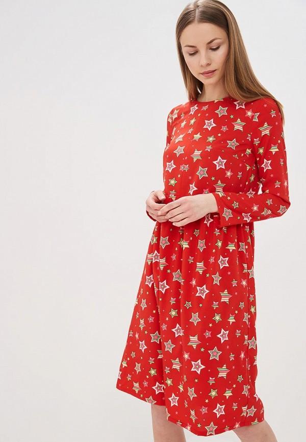 женское повседневные платье tutto bene, красное