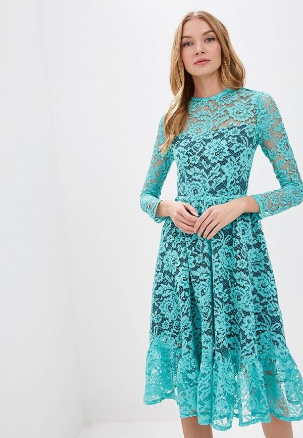 женское вечерние платье tutto bene, бирюзовое