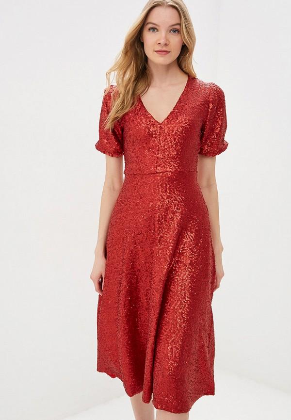 Фото - женское вечернее платье Tutto Bene красного цвета