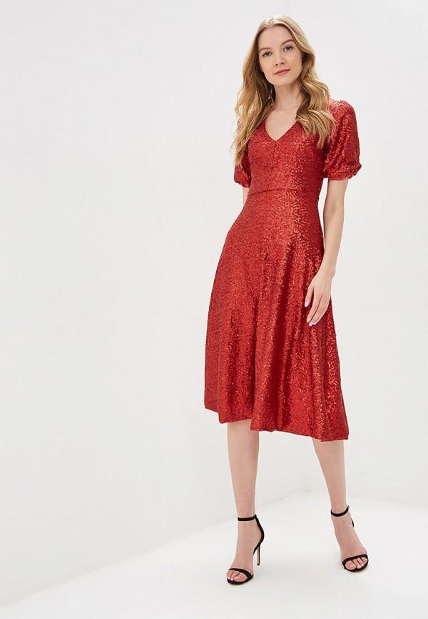 Фото 2 - женское вечернее платье Tutto Bene красного цвета