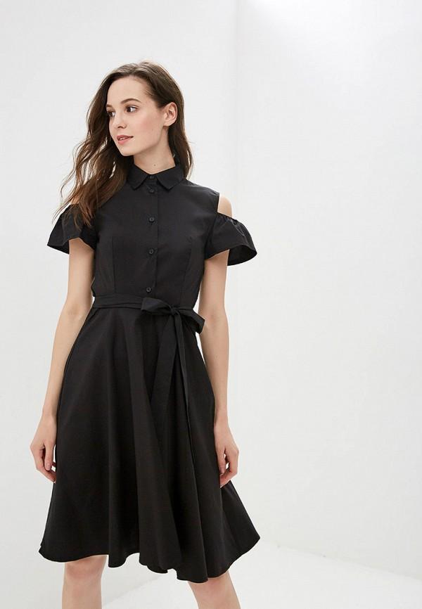 женское повседневные платье tutto bene, черное