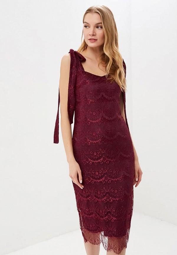 женское вечерние платье tutto bene, бордовое