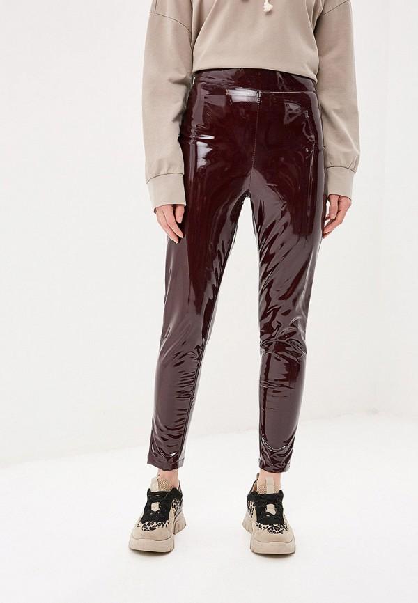 женские брюки tutto bene, бордовые