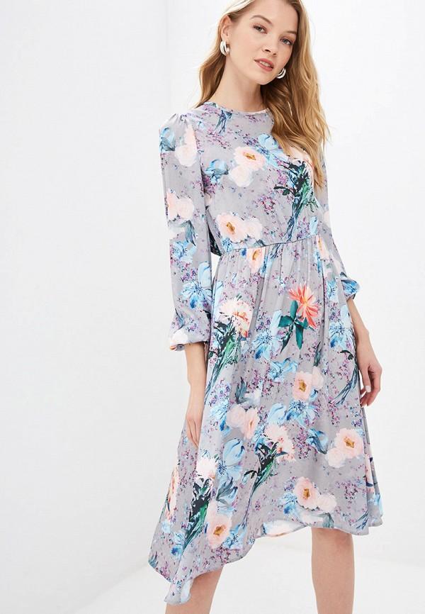 женское повседневные платье tutto bene, серое