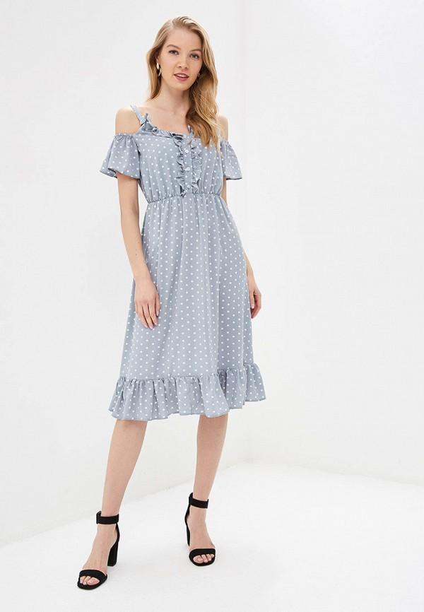 Фото 2 - женское платье Tutto Bene серого цвета