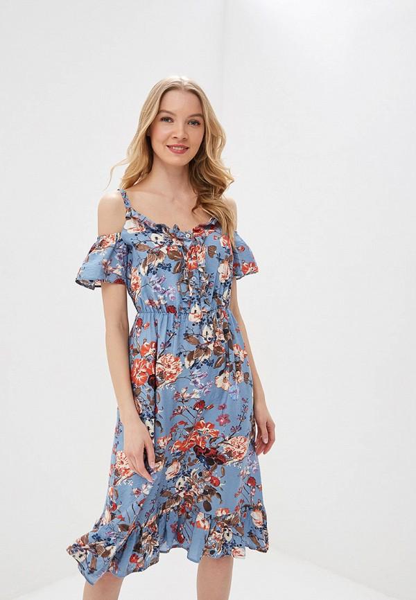 женское платье tutto bene, голубое