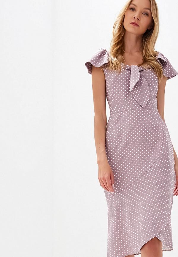 женское повседневные платье tutto bene, фиолетовое